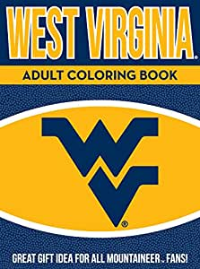 NCAA West Virginia Mountaineers Unisex Adult Coloring Bookncaa Adult Coloring Book, Yellow, 96 Coloring Pages