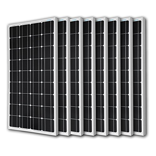 8pcs RENOGY 100 Watt 100w Monocrystalline Photovoltaic PV Solar Panel Module 12V Battery Charging