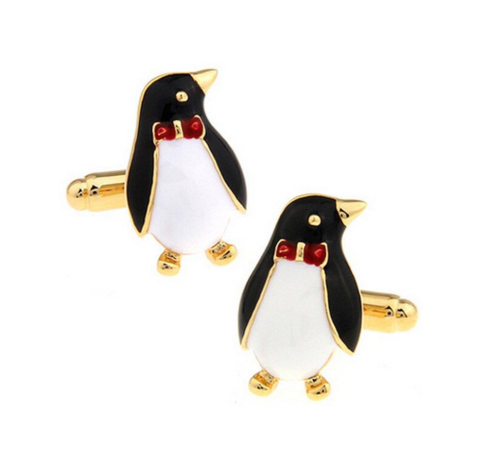 Cdet Une paire de Boutons de manchette Forme de Pingouin pour Homme Shirt Les Hommes Chemise Mariage Business Homme Boutons De Manchette Cadeau Alliage Elegant Cadeau Homme