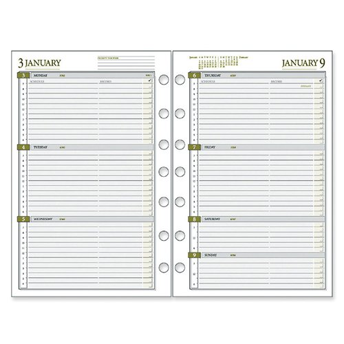 (Weekly Planner Calendar Refill,2PPW,Jan-Dec,5-1/2