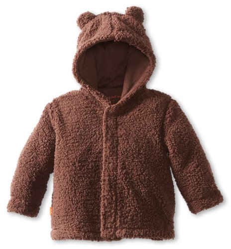 Magnificent Baby Unisex-Baby Infant Hooded Bear Jacket, Mocha, 0-6 Months (Mocha 1)