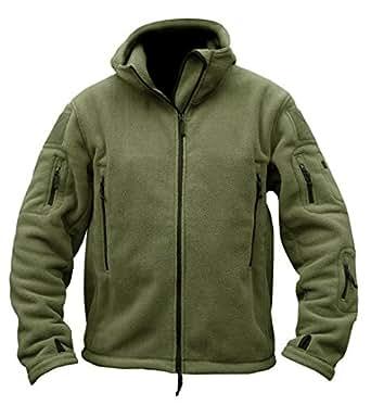 TACVASEN Men's Tactical Fleece Jacket (Small,Army Green)