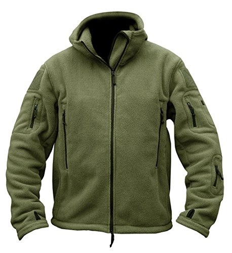 cal Fleece Jacket (X-Large,Army Green) (Army Green Mens Military Jacket)