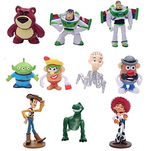 Toy Story Collectible Model | 10 Piece Action Figure Set | Cake Topper, Party Favor Supplies