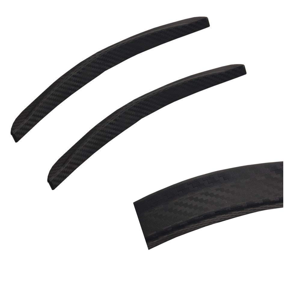 Dewhel 13' 2PCS Universal Black Carbon Fiber Looking Wheel Well Fender Trim Molding Trim Kit Wheel Eyebrow Decorative Strips For Honda Acura Nissan Mazda Mitsubishi Scion Toyota etc