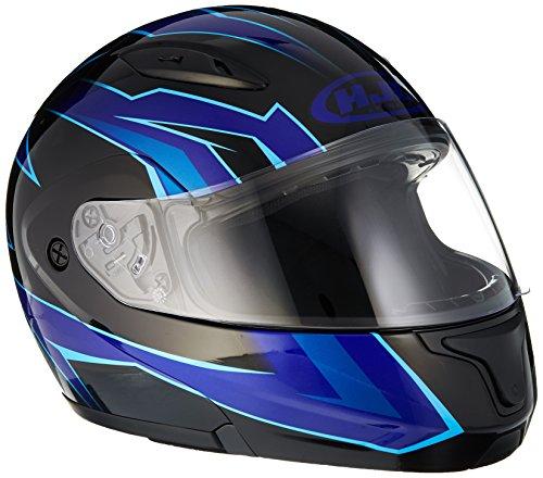 HJC CL-Max2 Ridge Modular/Flip Up Motorcycle Helmet (Blue/Black, Large)