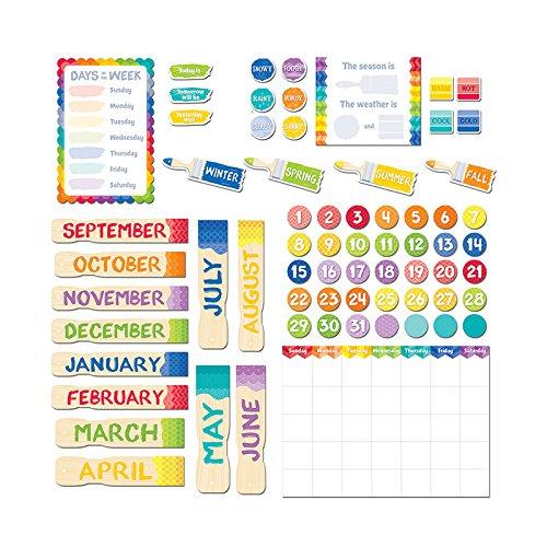 Creative Teaching Press Painted Palette Calendar Set Bulletin Board -