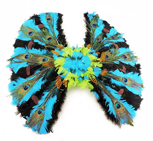 Vs Angel Halloween Costume (Colorful Peacock Angel Feather Wings)