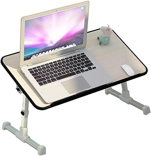 Mesa para cama para ordenador portátil ajustable con ventilador ...