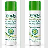 Simple Skincare Hydrating Light Gel Moisturizer, 1.5 Ounce (PACK OF TWO)