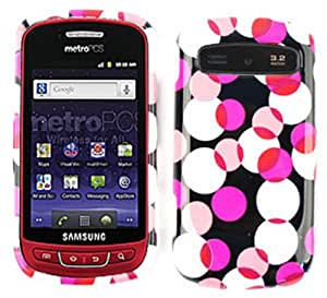 ACCESSORY HARD SNAP-ON CASE COVER FOR SAMSUNG ADMIRE VITALITY R720 PINK DOTS ON BLACK