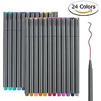 24 Fineliner Color Pens Set, Taotree Fine Line Colored...