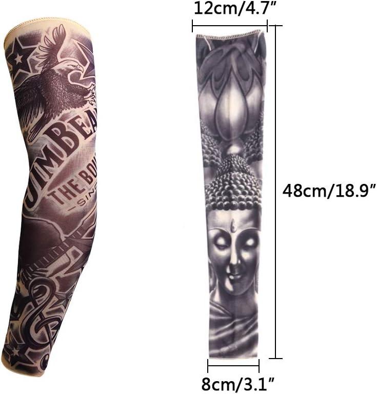 Mangas Tatuajes, Yuccer 6 PCS Tatuaje Temporal Brazo Medias Mangas ...
