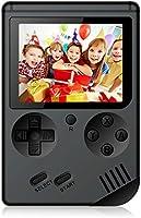 Rongyuxuan Consola de Juegos Portátil, Consola de Juegos 3 Pulgadas 168 Juegos Retro FC Game Player Consola de Juegos Clásica 1 Carga USB, Regalo de Cumpleaños para los Niños Padres Amigos