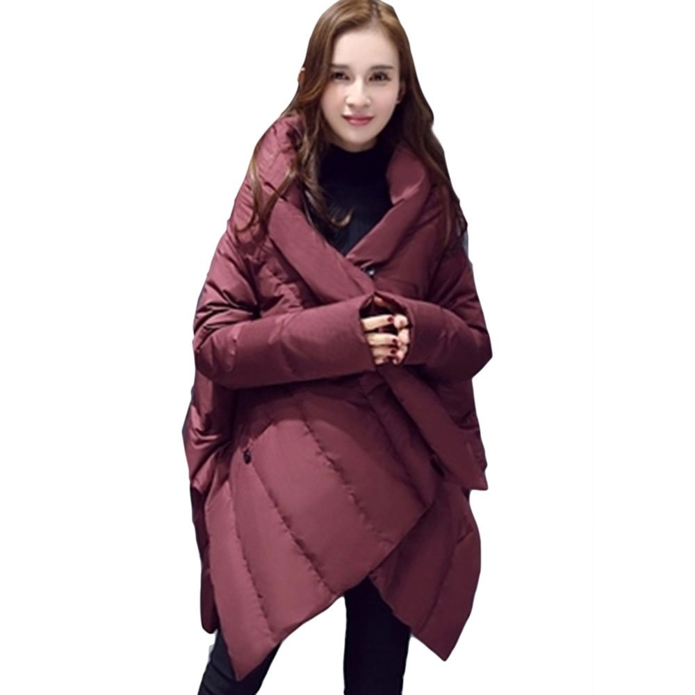 MAGUBA winter women's jacket large size cloak-style feather cotton medium long
