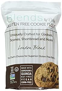Premium GF Cookie Flour - Blends By Orly Gluten Free Flour - London Blend - Baking Flour for Cookies, Scones, and Biscuits - 20ozs