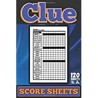 Clue Score Sheets: Clue Score Cards and Pads , Clue Board Game Sheets, Clue Score Card and Notepad, clue score sheet pad |120 sheets | 6 x 9 Inch |