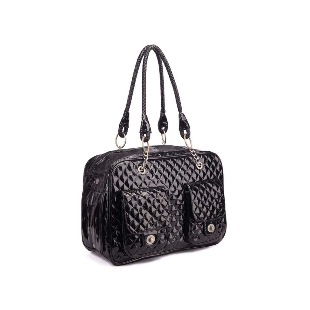 Black 432818cm Black 432818cm Pet bag LAOSUNJIA Stylish Portable Foldable Out Of The Pet Supplies Can Be Diagonally Convenient And Convenient (color   BLACK, Size   43  28  18cm)