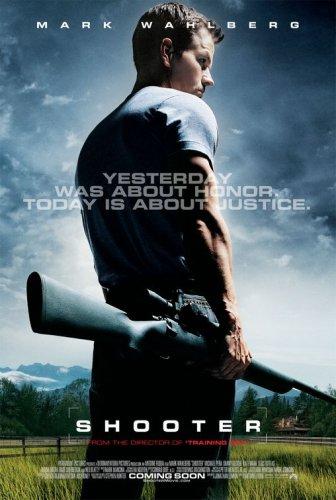 SHOOTER (2007) Original Movie Poster 27x40 - Dbl-Sided - Mark Wahlberg - Michael Pena - Adam S Gottbetter - Danny Glover