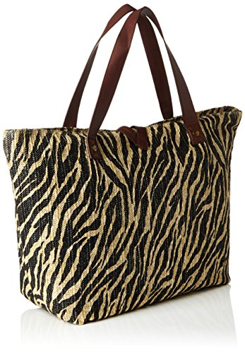 Sansibar Damen Henkeltasche, Mehrfarbig (Mehrfarbig (Zebra)), 26x34x61 cm