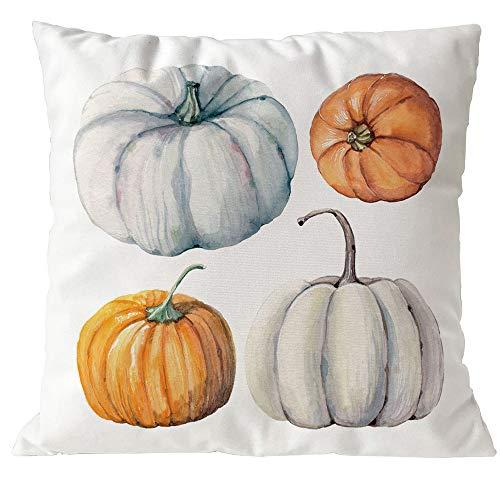 Clearance! Happy Halloween Pumpkin Cushion Covers Sofa Home Decor Throw Pillow Covers Case 18x18 Inch (F)