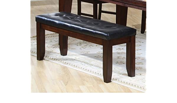 Amazon.com: Coaster 101883 Dining Bench With Black Cushion Seating In Oak  Finish: Kitchen U0026 Dining