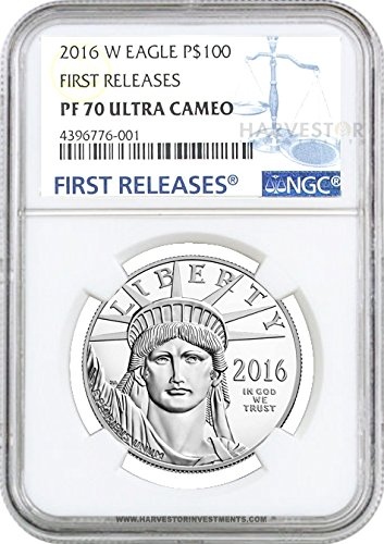 2016 W 2016 Platinum American Eagle 1 oz. Proof – NGC PF70 FIRST RELEASES $100 PF70 NGC FIRST RELEASES