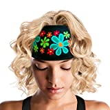 ArtSmackedByCherTM Wide Flower Sports Headband for Women. Moisture Wick Absorbs Sweat. A Polyester/Spandex Athletic Sportsband, Non-Slip, Cooling, Fashionable. Great for Gym, Running, Yoga, Crossfit.