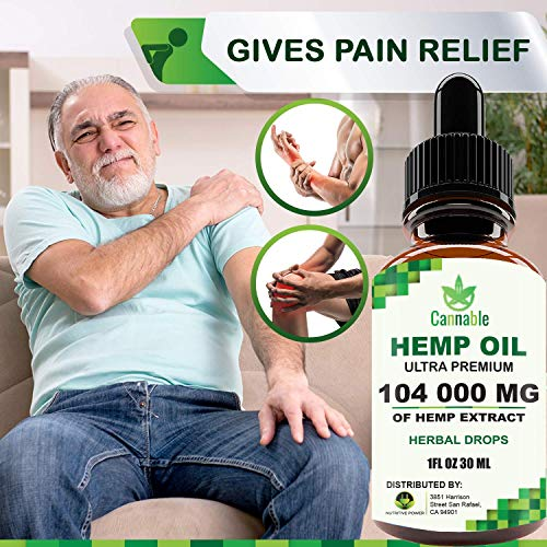 51aWRlrOGAL - Hemp Oil Extract 104 000 mg, All-Natural Drops for Pain, Stress, Anxiety Relief, Deep Restful Sleep