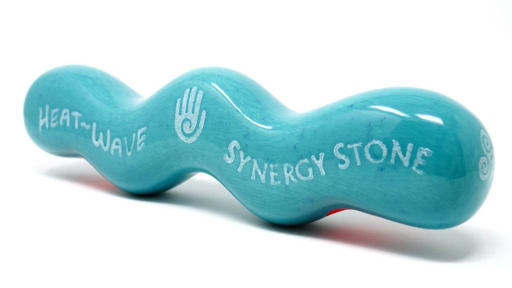 (Caribbean) Heat-Wave Synergy Stone - Pro Hot Stone Massage Tool - Gets Hot  fast - Radiant