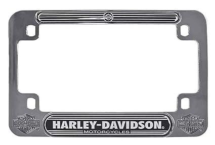 Amazon.com: Harley-Davidson H-D Script Chrome Motorcycle Plate Frame ...