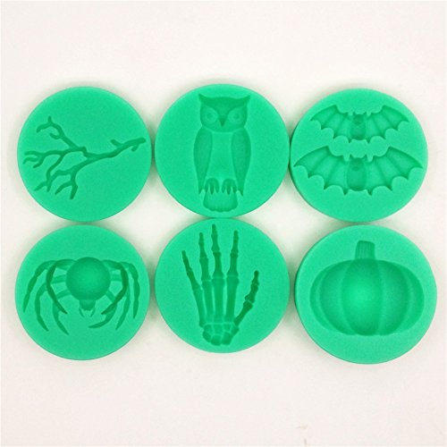 Bakeware & Accessories - Halloween Silicone Branch Owl Bat Spider Skeleton Hand Pumpkin Fondant Cake Mold Chocolate Mould - Halloween Silicone Mold 3d New - 1PCs for $<!--$11.72-->