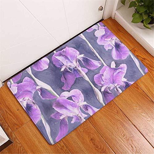 (Sunflower Decorative Floor Mat Kitchen Rugs Hallway Home Entrance Door Mats Carpets Anti-Slip Floral Doormats for Living Room 6 40x60cm)