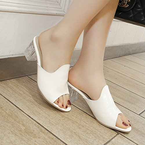 Mode Donne Melady Heels White Mules Haw5fq5nZ
