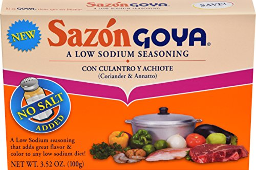 Goya Foods Sazon Coriander & Annatto Low Sodium, 3.52 Ounce (Pack of 18) by Goya