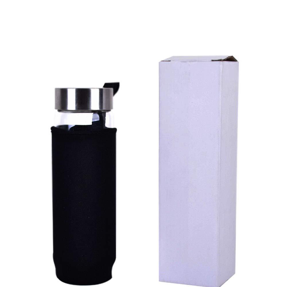 Amazon.com: Botella de agua de cristal reutilizable con gema ...