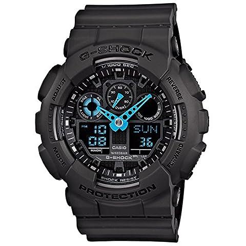Casio Mens G SHOCK Analog-Digital Sport Quartz Watch NWT GA-100C-8A (Mens Digital Sports Watch G Shock)