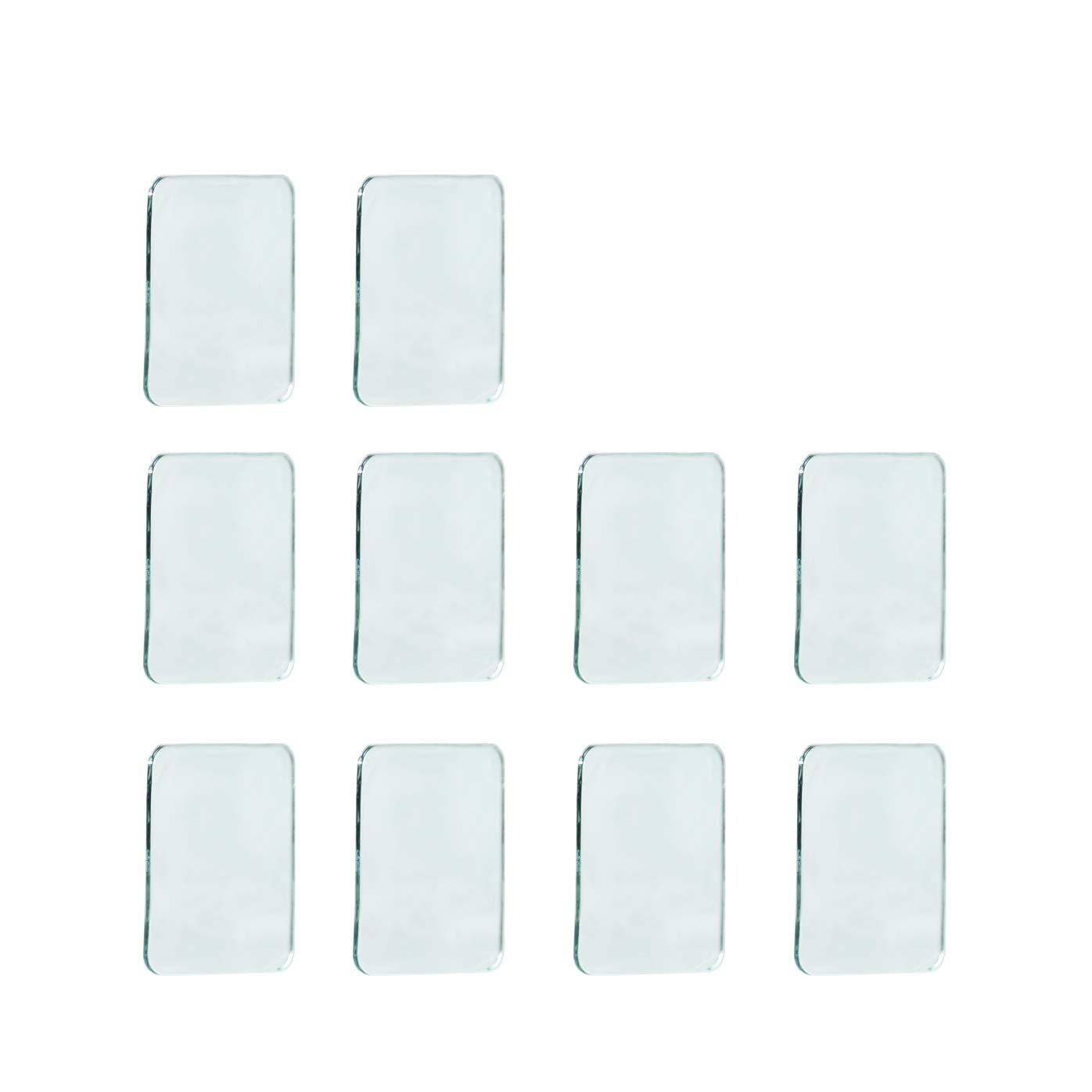 Sungrace 10 Pack Anti-Slip Fixate Sticky Cell Pads, Stick to Glass, Mirrors, Whiteboards, Metal, Kitchen Cabinets, Tile, Car And Other Surfaces(Square, Clear)