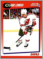 1991-92 Score Canadian Bilingual French English #22 Claude Lemieux NEW JERSEY DEVILS
