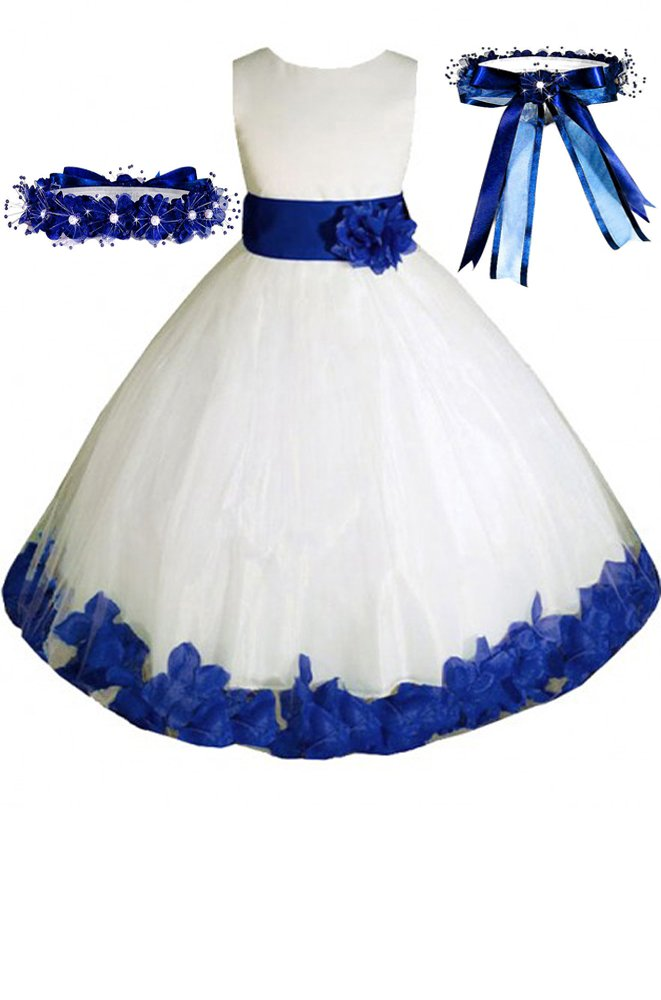 88184b79362 Top 10 wholesale Ivory Flower Girl Dress With Blue Sash ...