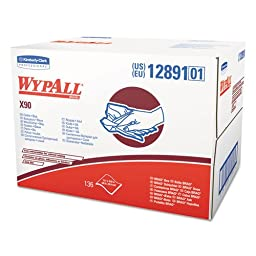 KCC12891 - Wypall X90 Cloths, Industrial, 11 1/10 X 16 4/5, White, 136/box