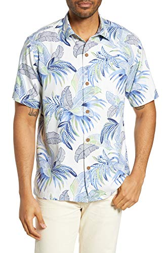 Silk Blend Camp Shirt - Tommy Bahama Island Zone Wallis Tropics Silk Blend Camp Shirt (Color: Twill, Size L)