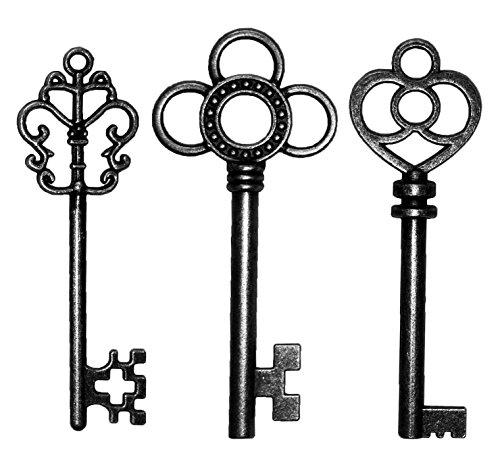 Salome Idea 30PCS Assorted Antique Skeleton Keys, Vintage...