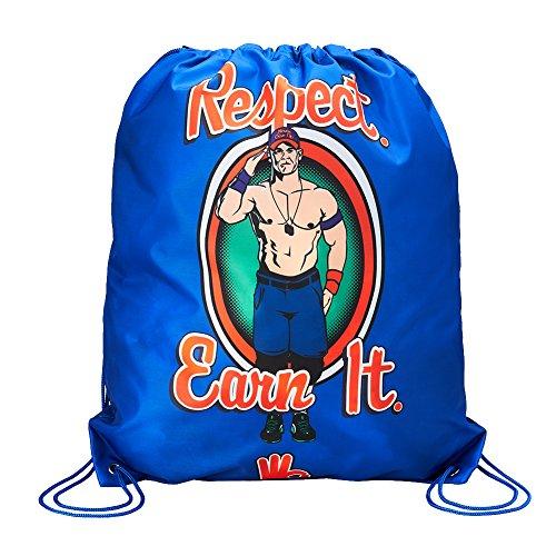 WWE John Cena Respect. Earn It. Drawstring Bag Royal Blue