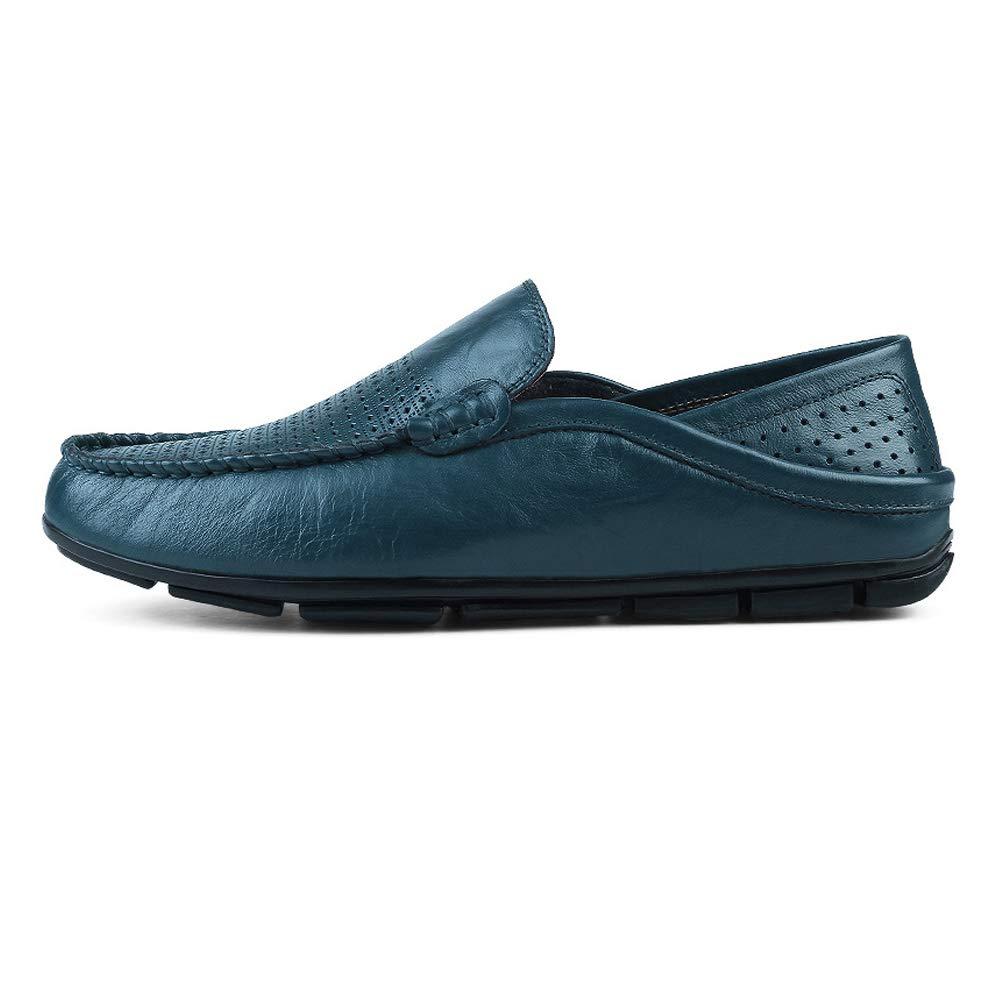 Xiazhi schuhe, Herren Mokassins Wave Wave Wave Sole Fashion Soft und Super Light Slip On Driving Loafer, (Farbe : Blau, Größe : 37 EU) Blau Hollow 49eb31