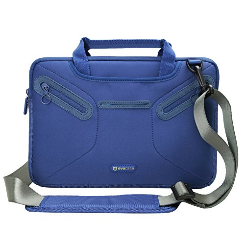 Evecase Multi-functional Carrying Messenger Case with Handle and Shoulder Strap for 10.6 - 11.6inch Laptops - Blue