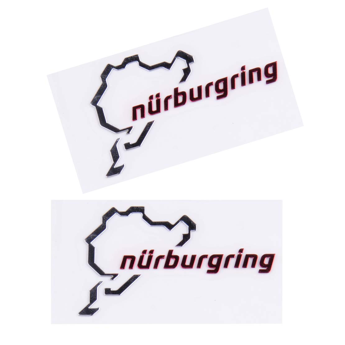 beler Logo de lautocollant dautocollant de voiture de sport de moteur de Nurburgring de chrome poli par 2pcs