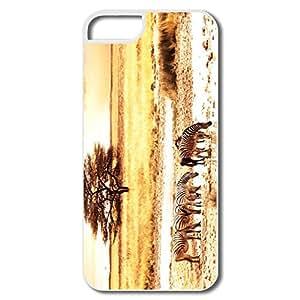 PTCY IPhone 5/5s Custom Funny Zebras Savanna