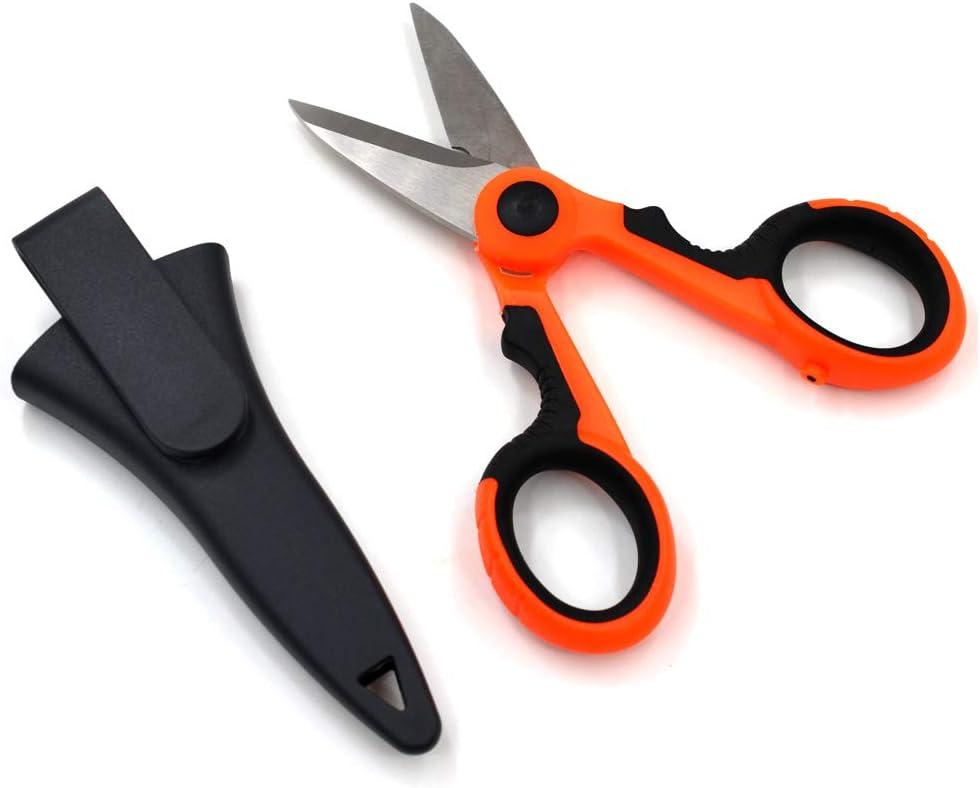 Plastic Fishing LINE//Sewing//String Shears Scissors Cutters ID276 FOLDING Steel