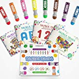 Washable Dot Markers 8 Pack With 121 Activity Sheets For Kids, Gift Set With Toddler Art Activities, Preschool...